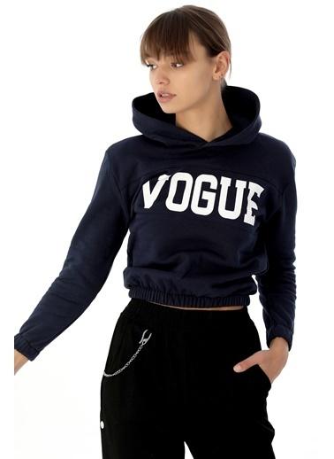 Emjey Vogue Baskılı Sweat Lacivert